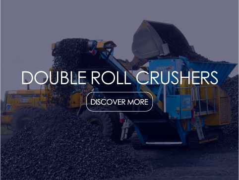 roller crusher, rolls crusher, Double roll crushers mobile